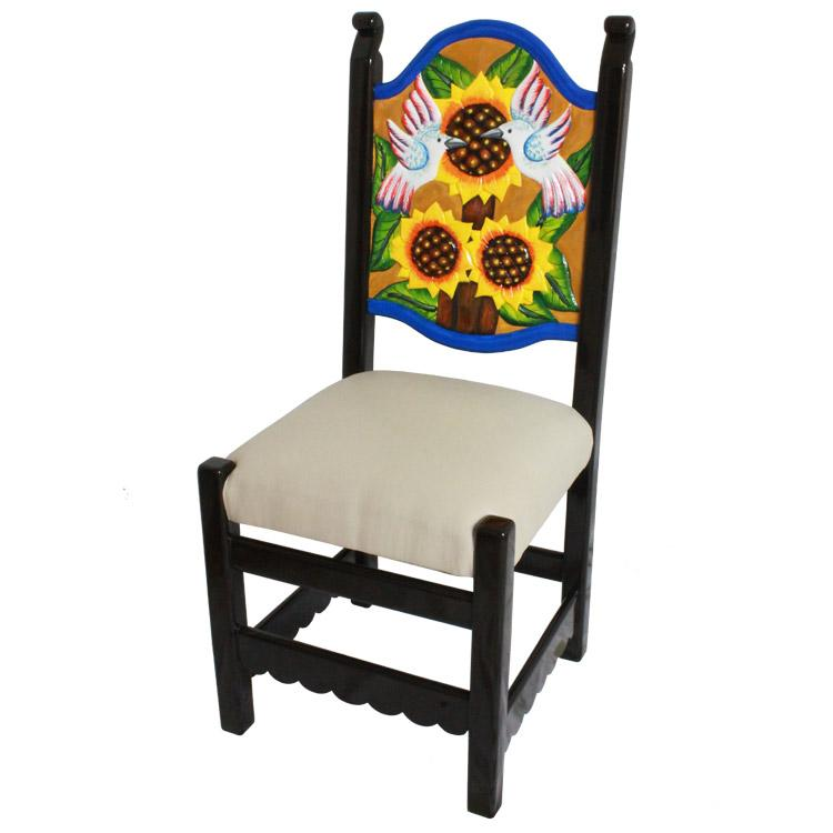 Etonnant Carved Sunflower Chair