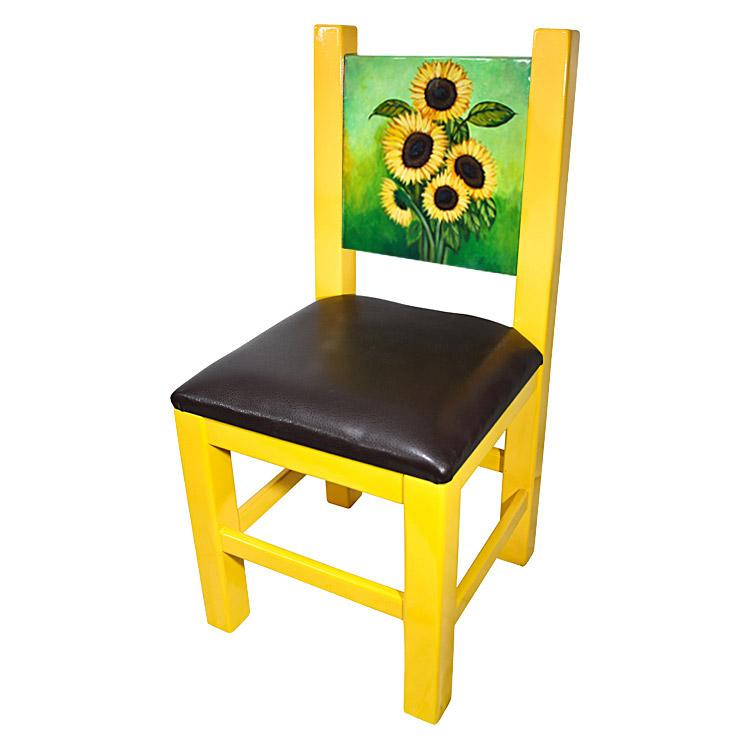 Merveilleux Painted Sunflower Chair
