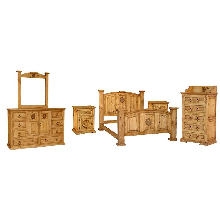mexican solid pine 3 piece bedroom set sets mansion star maya corona