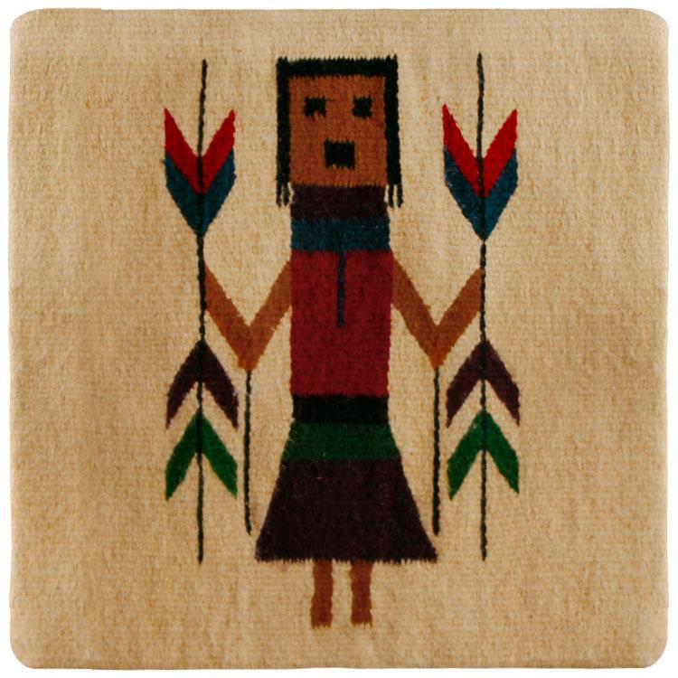 Zapotec Weavings Collection - Wool Throw Pillow:Zapotec Design FC2C - PILLOW-FC2C