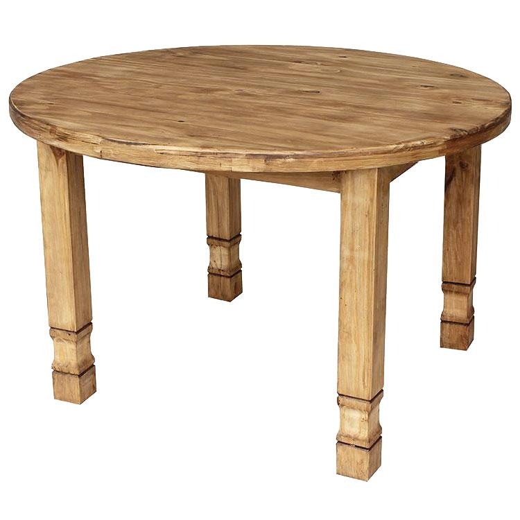 Pine Dining Room Table: Round Julio Dining Table
