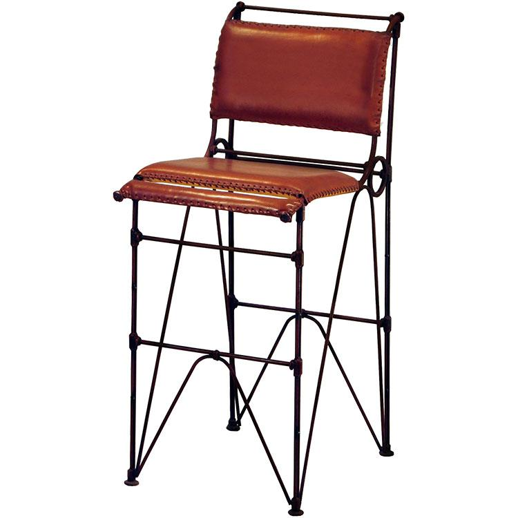 Copper Collection Sidro Leather Bar Stool Bst 1
