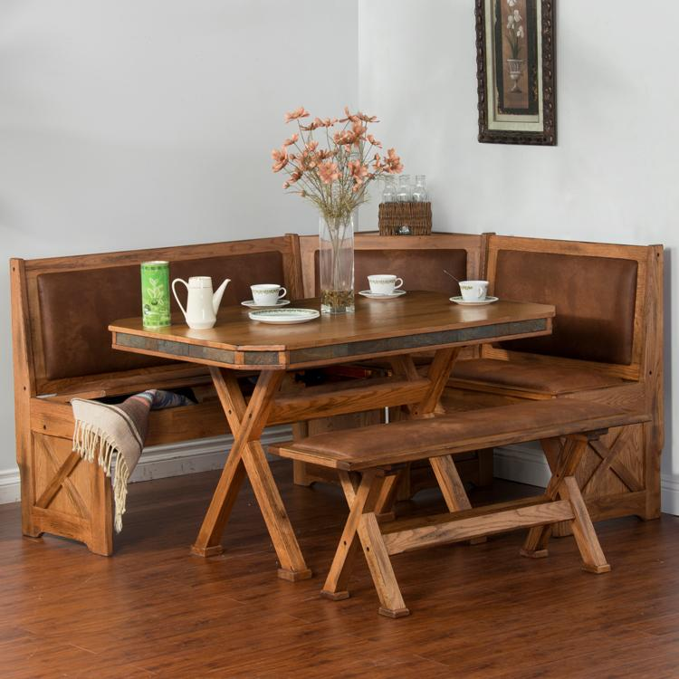 Rustic Oak Amp Slate Collection Rustic Oakbreakfast Nook