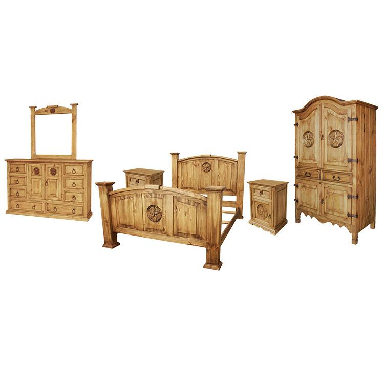 Rustic Pine Collection Texas Bedroom Set Bedset512
