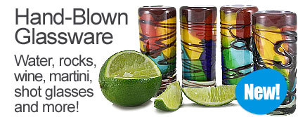 New! Hand-Blown Glassware