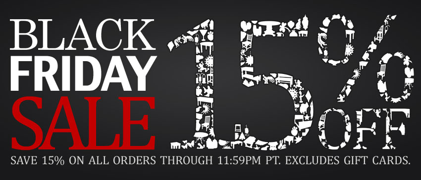 Black Friday Sale 15% Off All Orders