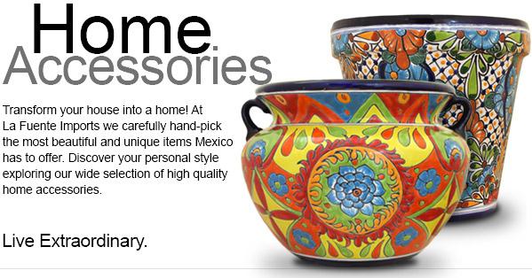 Talavera Planters  sc 1 st  La Fuente Imports & Mexican Talavera Tile Pottery Mirrors Lighting Plates