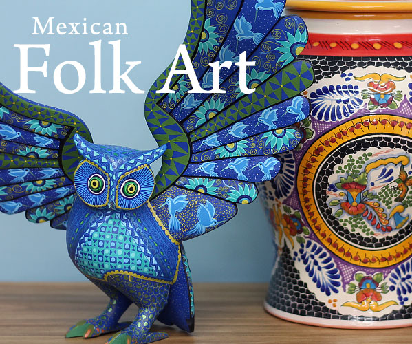 Mexican Art Day Of The Dead Bark Paintings Carvings