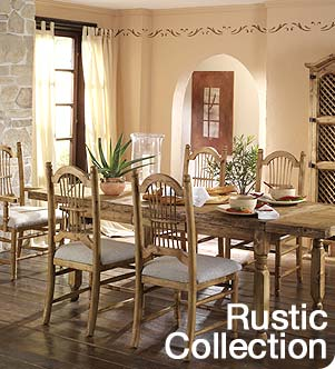 Rustic, Mexican, Southwestern, Carved, Log and Cactus Furniture.