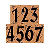 Ceramic House Numbers - Adobe Terracotta Color