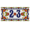 Ceramic House Numbers - White with Flowers