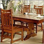Trestle Dining Table - Heartland Oak Collection