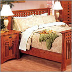 Mission Oak Slat Bed - Mission Oak Collection