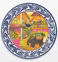 Tomas Huerta · Talavera u0026 Popote Plates  sc 1 st  La Fuente Imports & Authentic Mexican Talavera Plates Dinnerware Trays Bowls