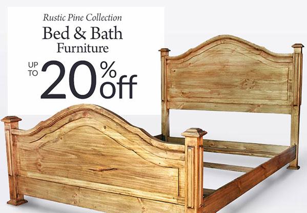 10% 20% Off Rustic Pine Bedroom U0026 Bathroom Furniture