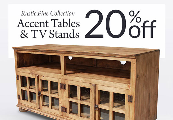 20% Off Rustic Pine Occasional Tables U0026 TV Stands
