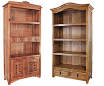 Southwest Rustic Bookcases