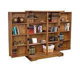 Rustic Oak Folding Bookcase