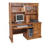 Rustic Oak Computer Desk w/Hutch