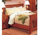 Mission OakClassic Slat Bed