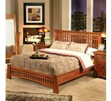 Mission OakPlatform Bed