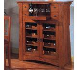 Mission Oak Wine Cabinet