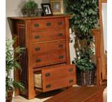 Mission OakFive-Drawer Dresser