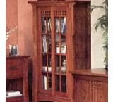 Mission Oak Sliding Door Bookcase