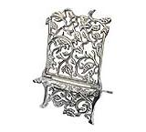 Pewter Grapevine Cookbook Stand