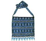 Beaded Purse:Blue, Silver & Black