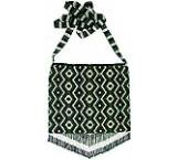 Beaded Purse: Silver, Green & Black
