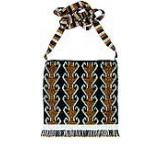Beaded Purse:Gold, Black & Silver