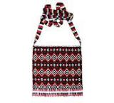 Beaded Purse:Red, Silver & Black