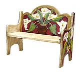 Maroon Lily Bench