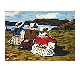 Wool Tapestry: Evening at the Lake