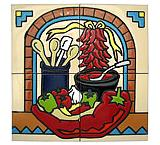 Chili Pepper Tile Mural