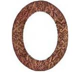 Oval Engraved Mirror