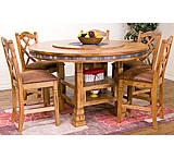 Rustic Oak Adjustable Dining Table