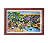 Puente al Rancho Carved Relief Painting