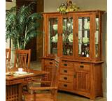 Mission Oak China Cabinet