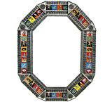 Octagonal Tile Mirror w/ Day of the Dead Tiles