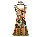 Aztec Skeletons Halloween Kitchen Apron