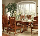 Heartland Oak Trestle Dining Table