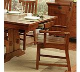 Heartland Oak Saddle-Seat Arm Chair