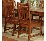 Heartland Oak Saddle-Seat Side Chair