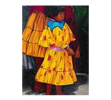Indigena Vestido Amarillo Oil Painting on Canvas