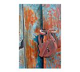 Puerta Con Candado Oil Painting on Canvas