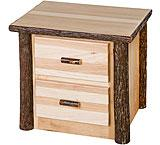 Hickory 2 Drawer Nightstand