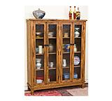 Rustic Oak4-Door Bookcase