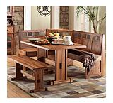Rustic Oak Breakfast Nook Set